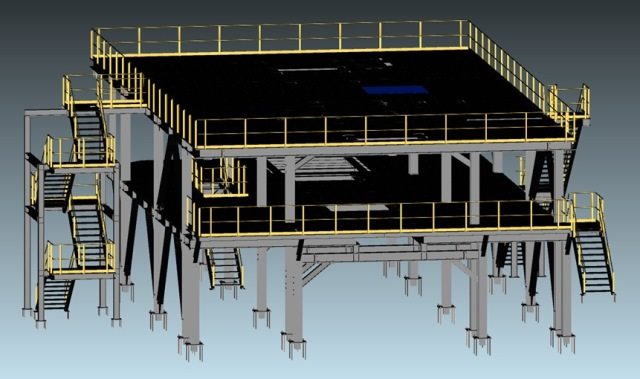 Inspection Stand 3D Drawing